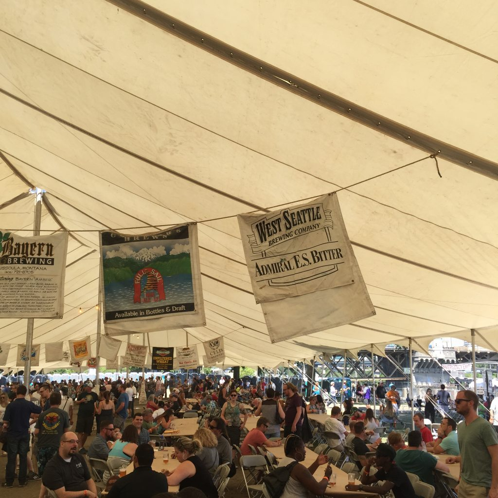 Crowds in the Beer Tent
