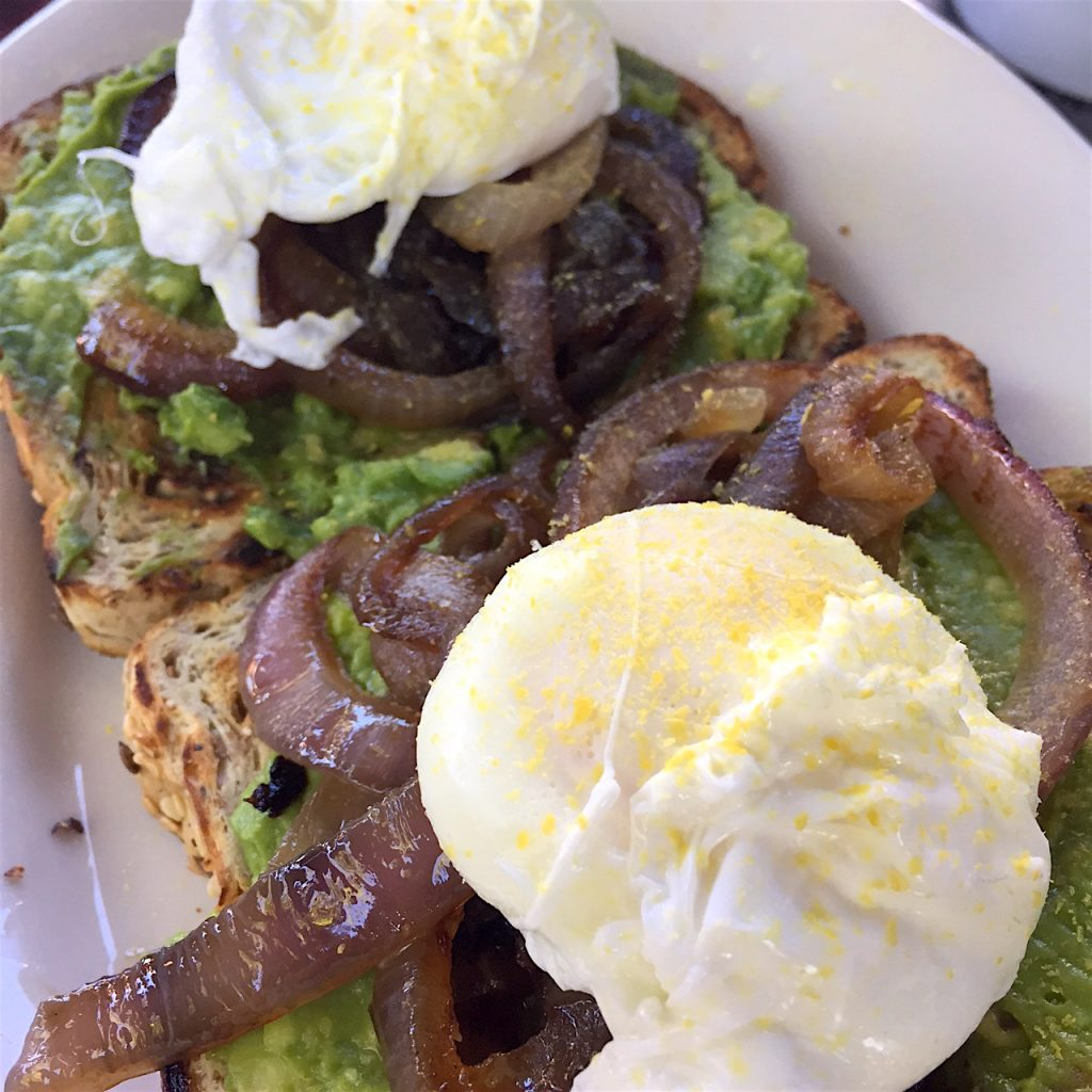 Avocado Toast with Poached Egg at Radio Room