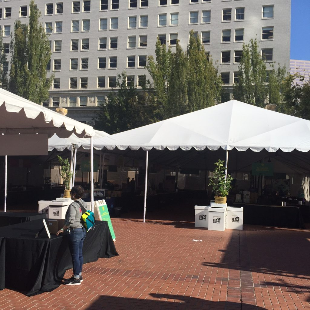 before-vendors-arrive-grand-tasting-feast-portland-2017