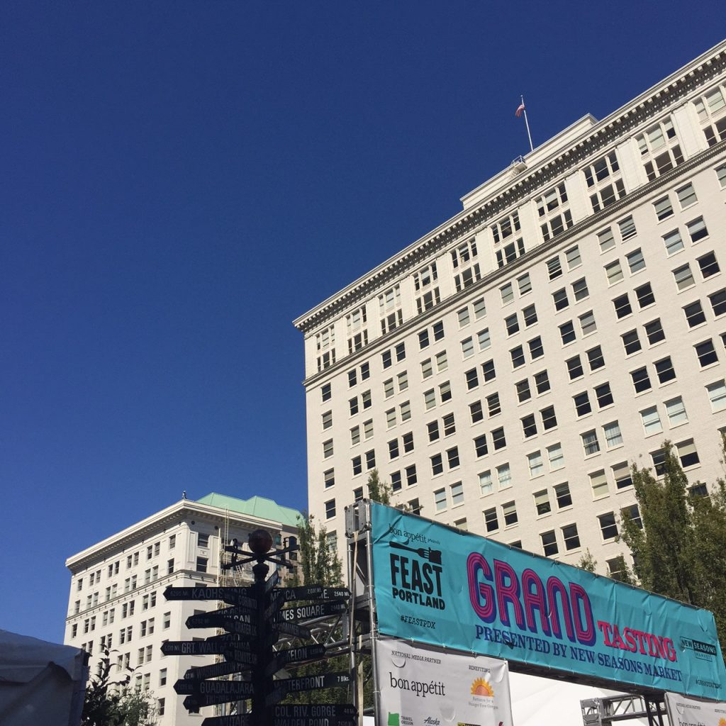 Blue Sky Over Feast Grand Tasting