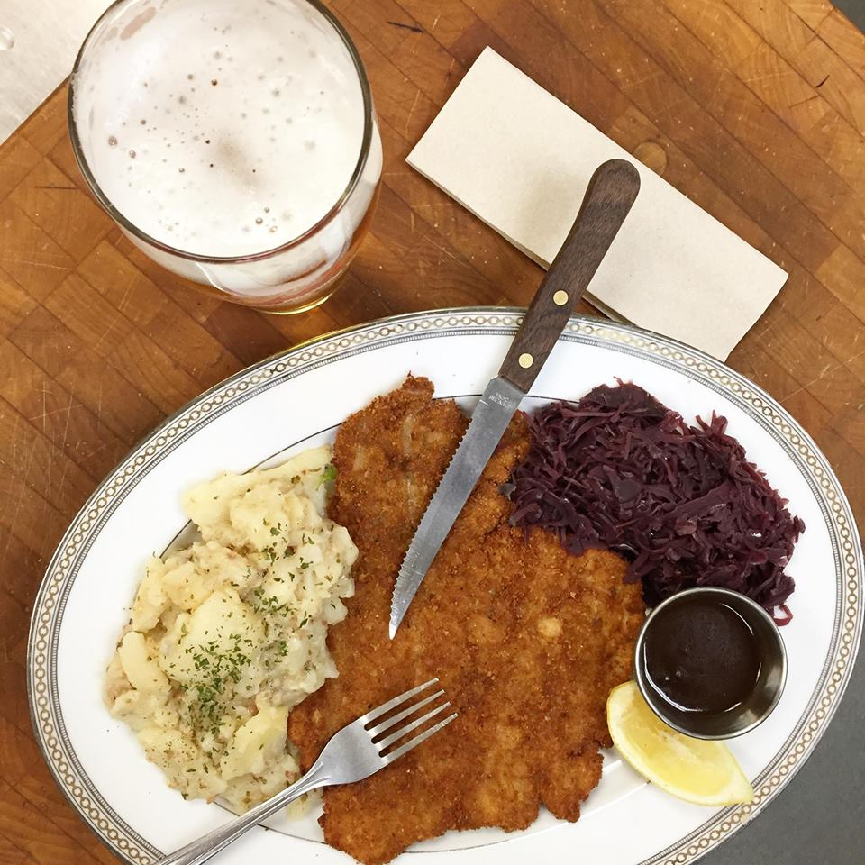 Schnitzel at Occidental Brewing Company