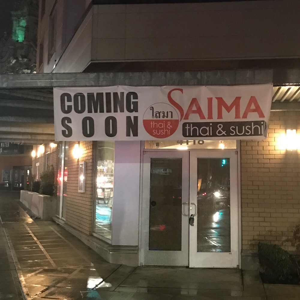 Saima Thai & Sushi storefront