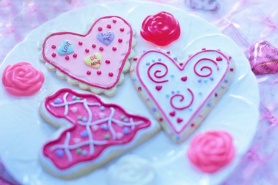 Love Valentine's Day Holiday Valentine Cookies