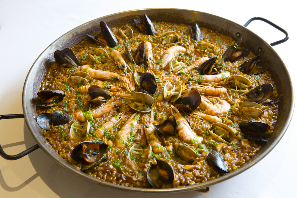 Paella de Peix - Fish of the Day-Cuttlefish-Mussels-Clams-prawns