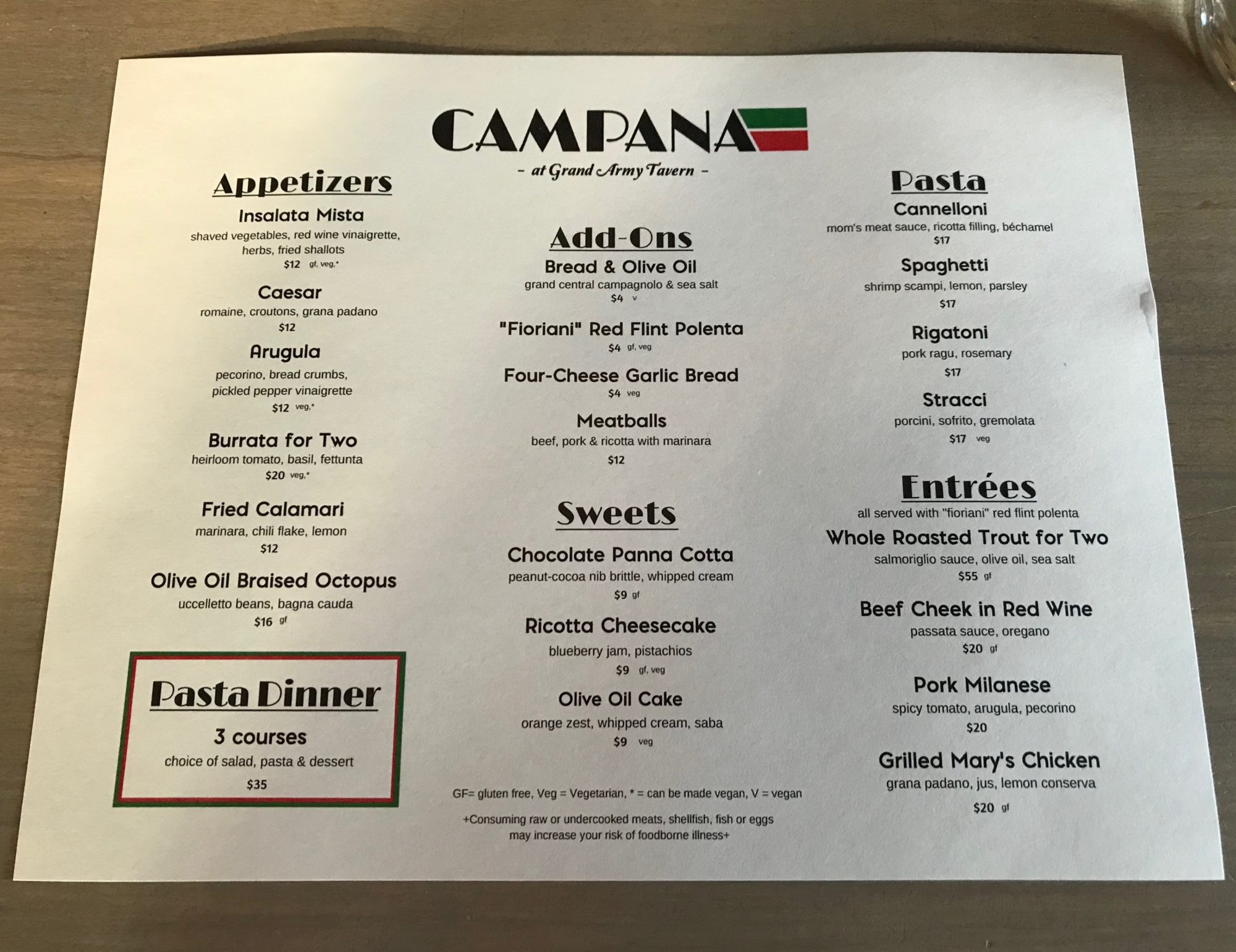 campana-menu-portland-oregon