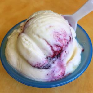 Buttermilk Marionberry Ice Cream at Cool Moon Ice Cream