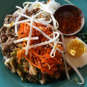 Bibimbap Bowl and Laughing Planet