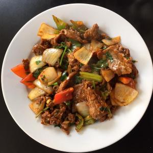 Cumin Beef at Chin's Kitchen