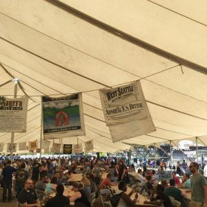 Beer tent crowds